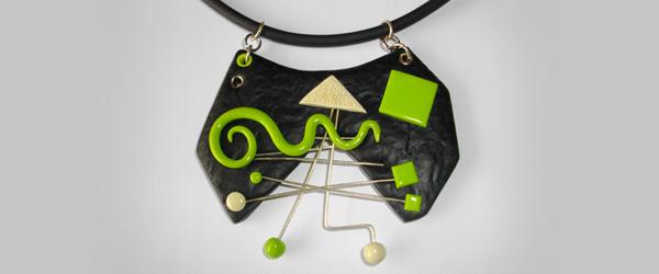 Pendentif Design vert et noir
