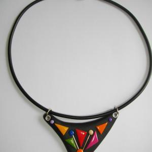 Triangle (multicolore) - Vente en ligne de bijoux fimo
