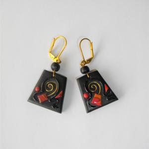 Boucles trapèze (éole) - Vente en ligne de bijoux fimo