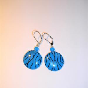 Boucles rondes (fils turquoise) - Vente en ligne de bijoux fimo