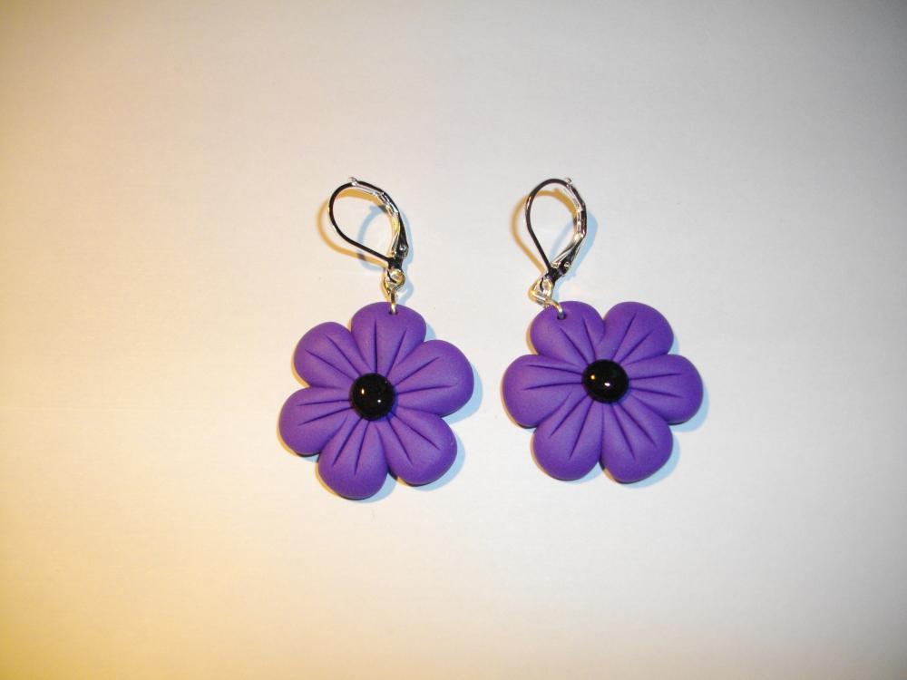 Boucles fleurs mauve vente de bijoux fimo en ligne for Vente de fleurs en ligne