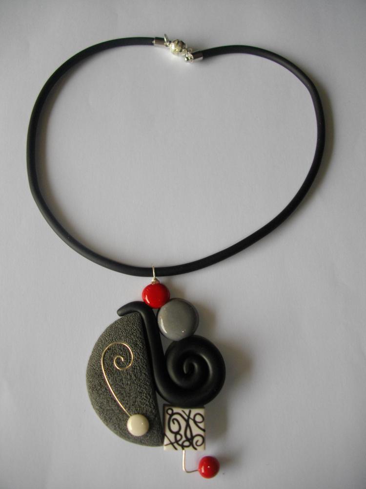 Pendentif escargot gris vente de bijoux fimo en ligne pendentif escarg - Bijoux canyon vente en ligne ...