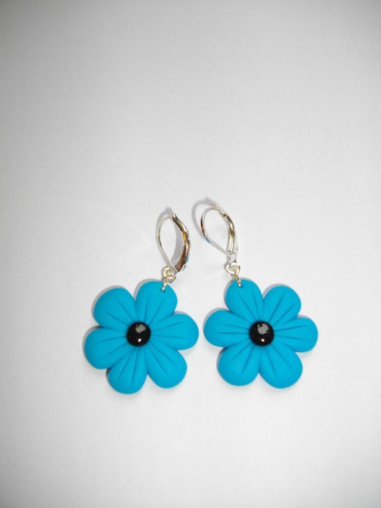Boucles fleur turquoise vente de bijoux fimo en ligne boucles fleurs - Bijoux canyon vente en ligne ...