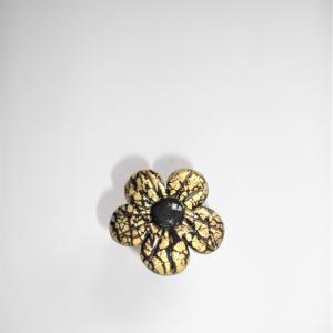 Bague fleur (doré) - Vente en ligne de bijoux fimo