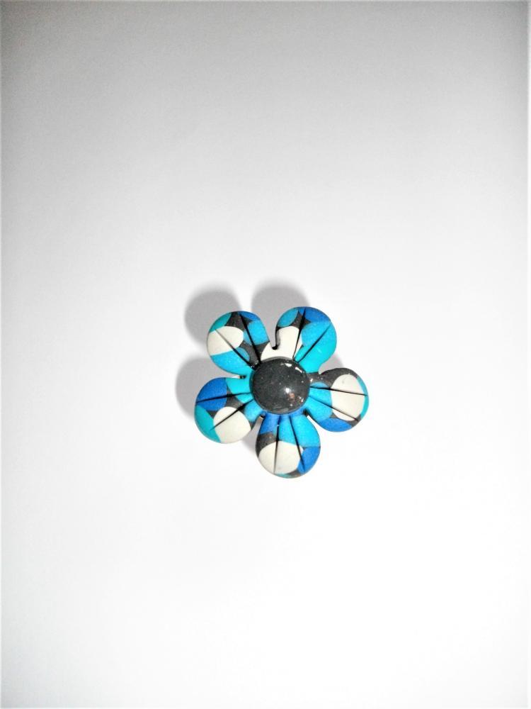 Bague fleur bleu vente de bijoux fimo en ligne for Vente de fleurs en ligne
