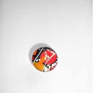 Bague ronde (miro rouge et orange) - Vente en ligne de bijoux fimo