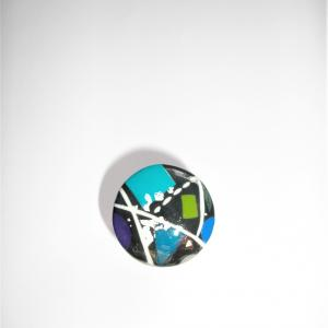 Bague ronde (miro bleu) - Vente en ligne de bijoux fimo