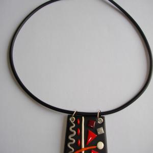 Trapèze miro (rouge) - Vente en ligne de bijoux fimo