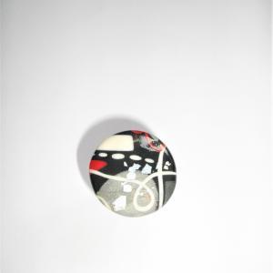 Bague ronde (miro rouge et gris) - Vente en ligne de bijoux fimo
