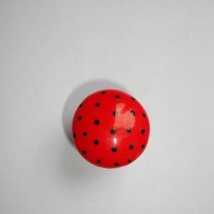 Bague ronde (pois rouge) - Vente en ligne de bijoux fimo