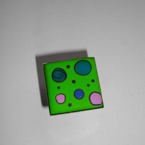 Bague carrée (vert pomme) - Vente en ligne de bijoux fimo