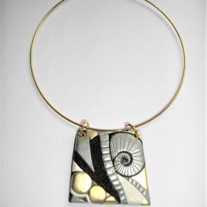 Trapèze (doré , argenté, relief) - Vente en ligne de bijoux fimo