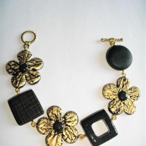 Bracelet fleurs dor s vente de bijoux fimo en ligne for Vente de fleurs en ligne