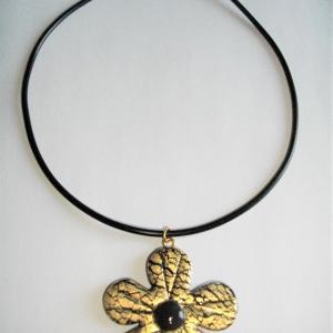 Fleur (doré) - Vente en ligne de bijoux fimo