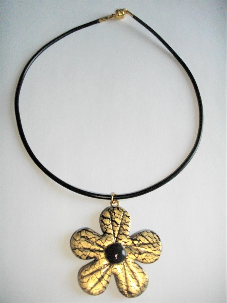 Fleur dor vente de bijoux fimo en ligne pendentifs for Vente de fleurs en ligne
