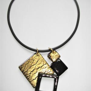 4 carrés ( craquelures dorées) - Vente en ligne de bijoux fimo