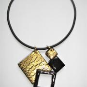 4 carrés ( craquelures dorées)