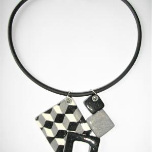 4 carrés 3D - Vente en ligne de bijoux fimo