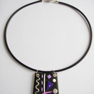Trapèze miro (mauve) - Vente en ligne de bijoux fimo