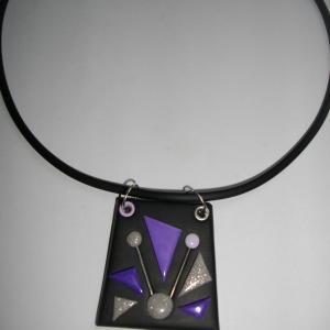 Trapèze classique (mauve) - Vente en ligne de bijoux fimo