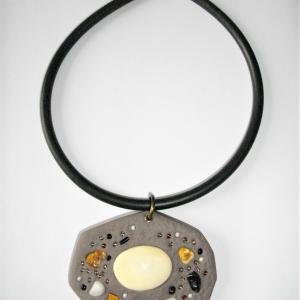 Rocher (taupe) - Vente en ligne de bijoux fimo