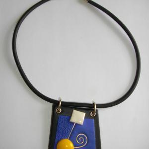 Trapèze (bleu électrique) - Vente en ligne de bijoux fimo