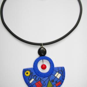 demi lune (bleu électrique) - Vente en ligne de bijoux fimo