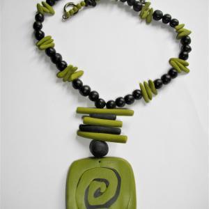 ethnique (vert anis) - Vente en ligne de bijoux fimo