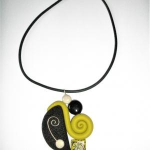 Escargot (vert anis) - Vente en ligne de bijoux fimo