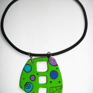trapèze arrondi troué (vert pomme) - Vente en ligne de bijoux fimo