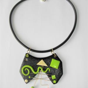Déstructuré martelé ouvert avec  métal - Vente en ligne de bijoux fimo