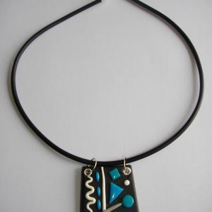 Trapèze miro ( turquoise) - Vente en ligne de bijoux fimo