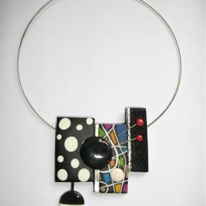 3 rectangles déstructurés (multicolore) - Vente en ligne de bijoux fimo