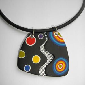 pendentif lunaire - Vente en ligne de bijoux fimo