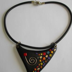 Triangle mosaique - Vente en ligne de bijoux fimo