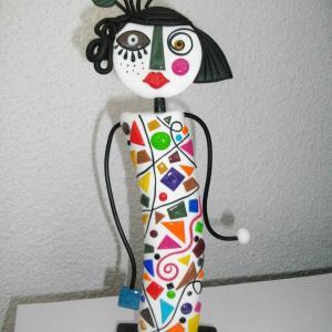 Figurine rétro (multicolore) - Vente en ligne de bijoux fimo
