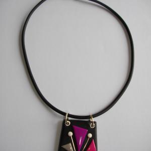 Trapèze classique (fuchia) - Vente en ligne de bijoux fimo