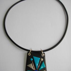 Trapèze classique (turquoise) - Vente en ligne de bijoux fimo