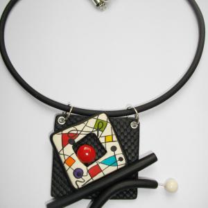 pendentif carré gaufré tube - Vente en ligne de bijoux fimo
