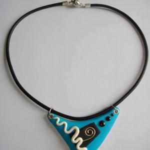 Triangle (turquoise) - Vente en ligne de bijoux fimo