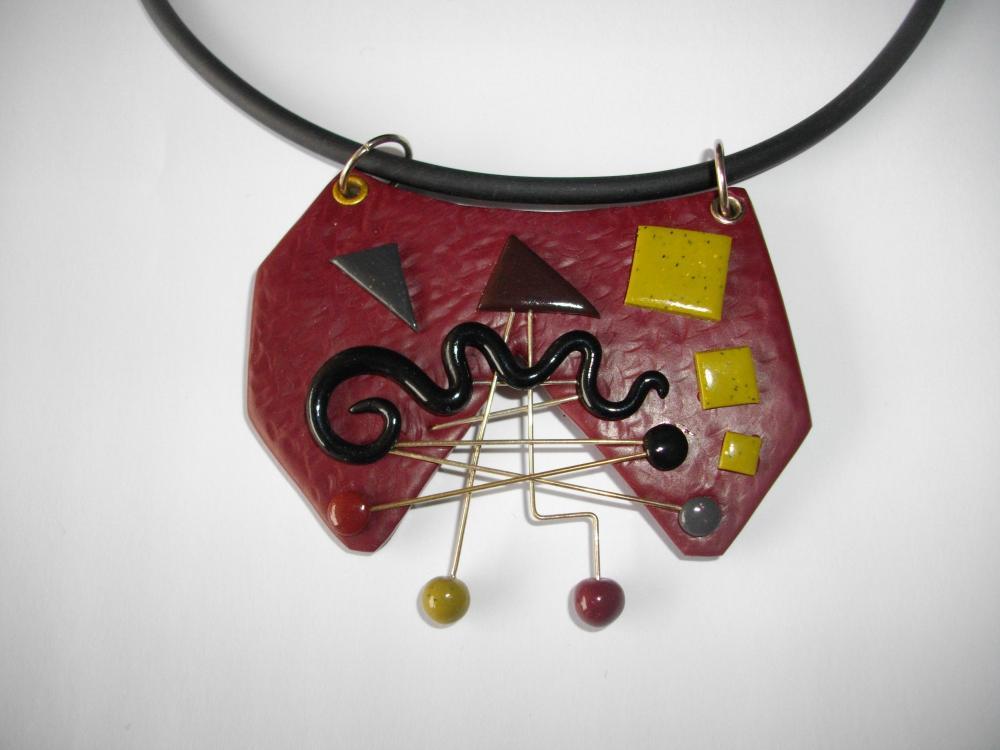 Pendentif design bordeaux et noir vente de bijoux fimo en ligne design fimo - Design vente en ligne ...