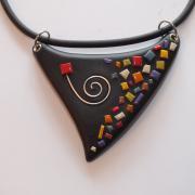 Collier triangle multicolore (Mosaique)