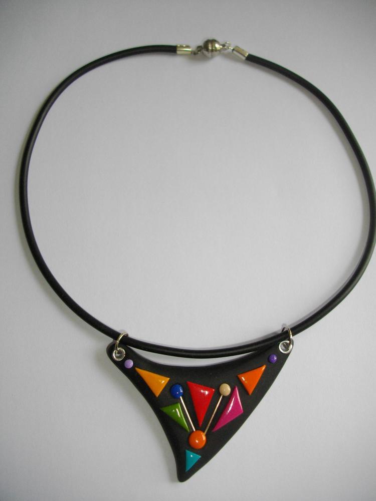 Triangle multicolore vente de bijoux fimo en ligne petits pendentifs mult - Bijoux canyon vente en ligne ...